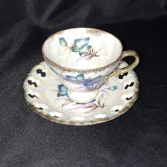 Vintage Other - Vintage JAPAN Small Teacup & Saucer~Iridescent